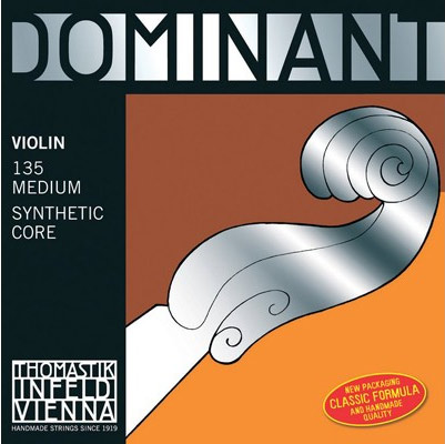 Thomastik-Infeld 135 Dominant Synthetic Core Aluminum and Silver Wound Ball End 4/4 Violin Strings