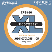 D'Addario XL ProSteels Electric Bass Guitar Strings