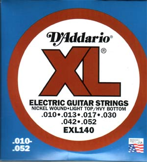 D'Addario EXL140 Electric Guitar Strings Light/Heavy .010 - .052
