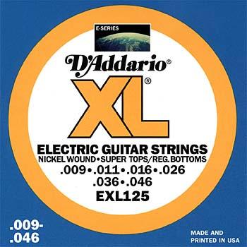 D'Addario EXL125 Electric Guitar Strings Super Light .009 - .046