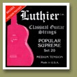 Luthier Set-20 Popular Supreme Classical Guitar Strings Medium Tension