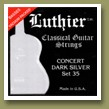 Luthier Set-35 Concert Dark Silver Classical Guitar Strings Medium/Hard Tension