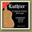 Luthier Set-40 Concert Gold Classical Guitar Strings Medium/Hard Tension