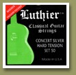Luthier Set-50 Concert Supreme Classical Guitar Strings Hard Tension