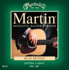 Martin 170 80/20 Bronze Acoustic Guitar Strings Extra Light