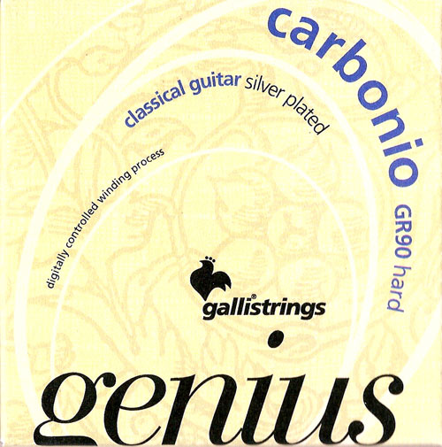 Galli GR90 Genius Carbonio Classical Guitar Strings Hard Tension