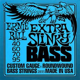 Ernie Ball Round Wound Extra Slinky Bass Guitar Strings 40-95