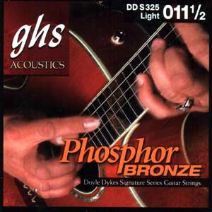 GHS Doyle Dykes Signature Series Phos Bronze Acoustic Guitar Strings Light