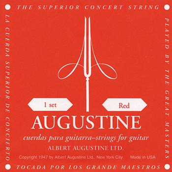 Augustine Red Copper Bass/Nylon treble Classical Guitar Strings