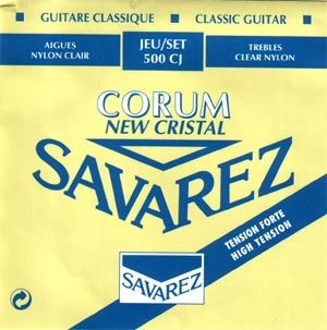 Savarez 500 CJ Corum New Cristal Classical Guitar Strings High Tension