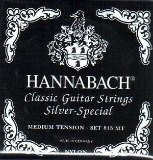 Hannabach 815 Silver-Special Classical Guitar Strings Medium Tension