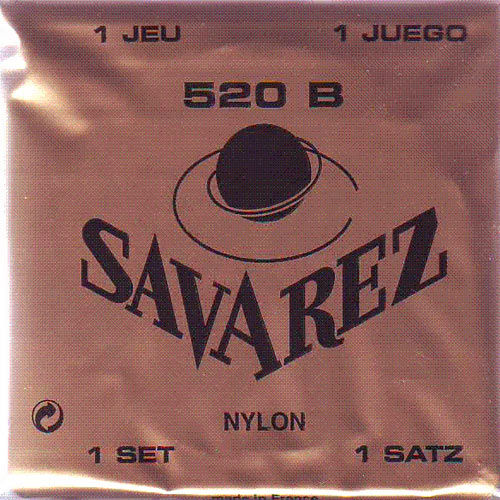 Savarez 520 B White Traditional Classical Nylon Guitar Strings Low Tension