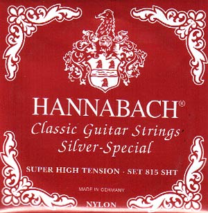 Hannabach 815 Silver-Special Classical Guitar Strings Super High Tension
