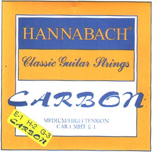 Hannabach Carbon Classical Guitar Strings Medium/High Tension Trebles only