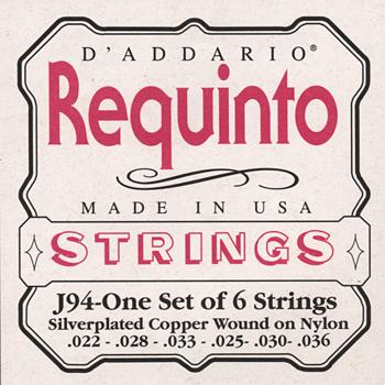 D'Addario J94 Silverplated Copper Wound on Nylon Requinto Strings