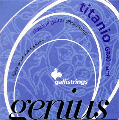 Galli GR40 Titanium Genius Classical Guitar Strings Hard Tension