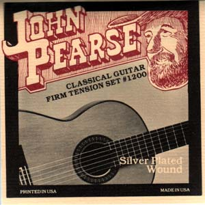 John Pearse 1200 Nylon Classical Guitar Strings Firm Tension .029 - .044