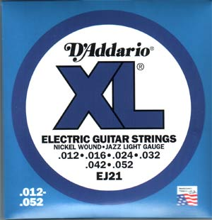 D'Addario EJ21 Electric Guitar Strings Jazz Light .012 - .052