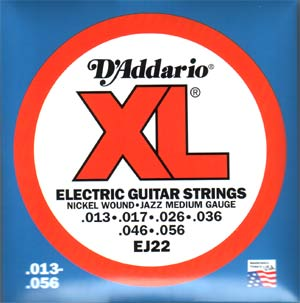 D'Addario EJ22 Electric Guitar Strings Jazz Medium .013 - .056