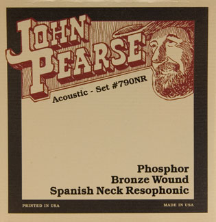 John Pearse Phosphor Bronze Spanish Neck Resophonic Guitar Strings