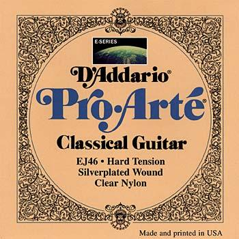D'Addario EJ46 Pro Arte Clear Nylon Classical Guitar Strings Hard .029 - .044