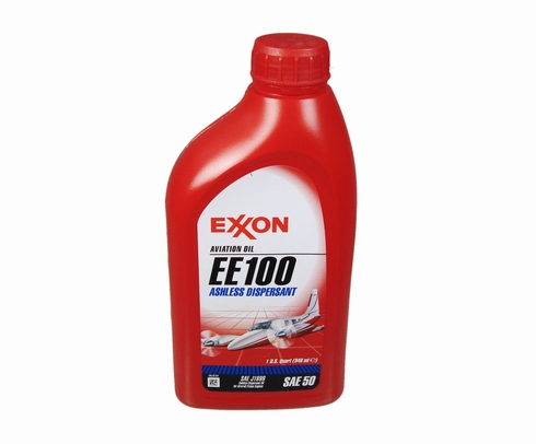 Exxon Mobil EE 100 Ashless Dispersant Aviation Piston Oil - Quart
