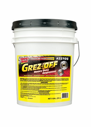 Grez-Off® 22705 Yellow Heavy-Duty Degreaser - 5 Gallon Pail