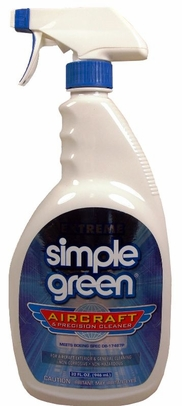 Simple Green 13412 Extreme Aircraft Degreaser & Precision Cleaner - 32 oz Trigger-Spray Bottle