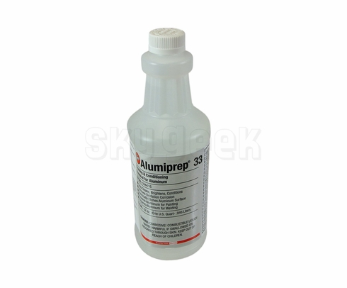 Henkel 594416 BONDERITE C-IC 33 AERO (formerly Alumiprep 33) Metal Preparation Chemical - Quart Bottle