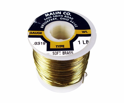 "Malin 26-0319-001S CDA 260 Soft Brass 0.0319"" #20 ASTM B134 Spec Breakaway Wire (1 lb Roll)"