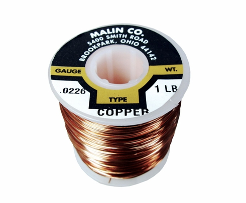 "Malin 11-0226-001S Copper 0.0226"" #23 Breakaway Wire - 1 lb Spool"