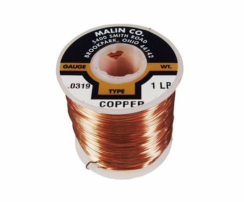 "Malin 11-0319-001S Copper 0.0319"" #20 Breakaway Wire (1 lb Roll)"