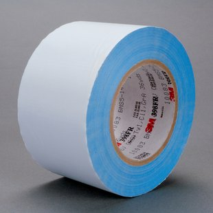 "3M� 021200-96674 White 398FR Glass 7 Mil Cloth Tape - 4"" x 36 Yard Roll"