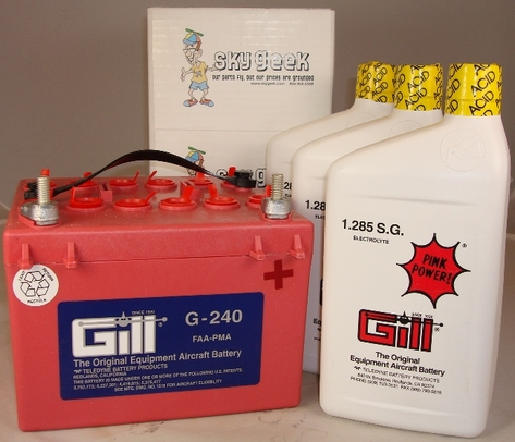 Gill G-240 Aircraft Battery with Acid