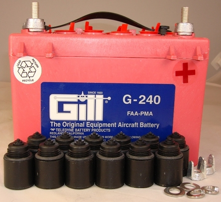 Gill G-240 Aircraft Battery without Acid