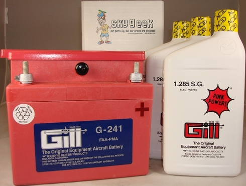 Gill G-241 Aircraft Battery with Acid