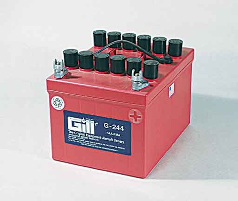 Gill G-244 Aircraft Battery with Acid