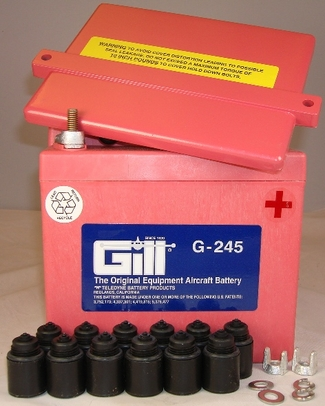 Gill G-245 Aircraft Battery without Acid
