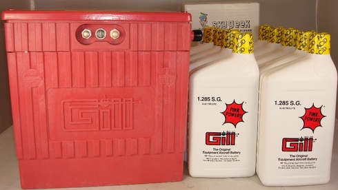 Gill G-6381E Aircraft Battery with Acid