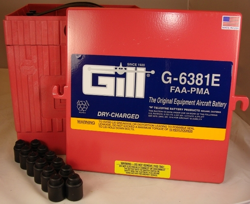 Gill G-6381E Aircraft Battery without Acid