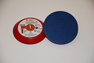 "3M� 051144-20348 Stikit Hard Clean Sanding Low Profile Disc Pad - 3"" x 1/2"" - 1/4-20 External - 10 Pads/Case"