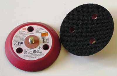 "3M™ 051141-20350 Clean Hard Sanding Low Profile Hookit Disc Pad - 3 Hole - 3"" x 1/2"" -1/4-20 External - 10 Pads/Case"