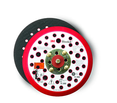 "3M™ 051141-20356 Hard Clean Sanding Low Profile Hookit Disc Pad - 52 Hole - 6"" x 3/8"" - 5/16-24 External - 10 Pads/Case"