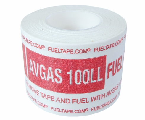 "Fuel Tape ""AVGAS 100LL Fuel Only"" Indicator Tape - Red Print"