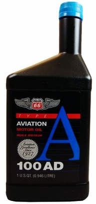 Phillips 66� Aviation Type A 100AD Piston Engine Aircraft Oil - Quart (946 mL) Bottle