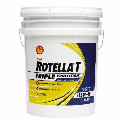 Shell Rotella� T4 Triple Protection� 15W-40 (CK-4) Heavy-Duty Diesel Engine Oil - 5 Gallon Pail