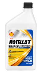 Shell Rotella� T4 Triple Protection� 15W-40 (CK-4) Heavy-Duty Diesel Engine Oil - Quart Bottle (CLEARANCE)