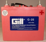 Gill G-25 Aircraft Battery