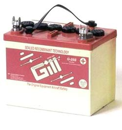 Gill G-25S Sealed Lead Acid Aircraft Battery