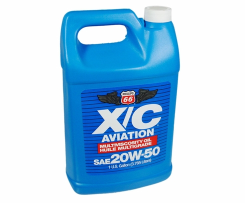 Phillips 66� X/C� Aviation SAE 20W-50 Multi-Grade Piston Engine Aircraft Oil - Gallon (3.785 Liter) Jug